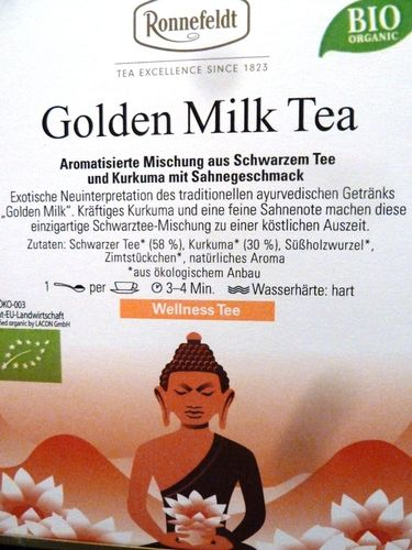 Golden Milk Tea BIO Ronnefeldt Wellness